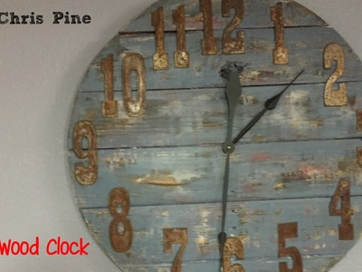 How to make a Pallet Wood Clock.