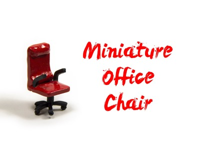 How to Make Miniature Polymer Clay Office Chair - Miniature Tutorials