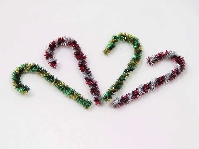 How to make pipe cleaner candy canes
