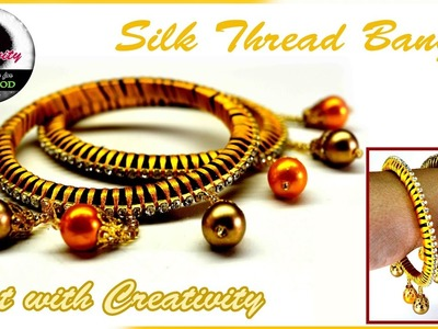 How to make Silk thread Bangle | Easy and Simple | Art with Creativity 124