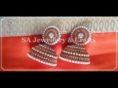 How to make Silk Thread Bridal Jhumka at Home !!