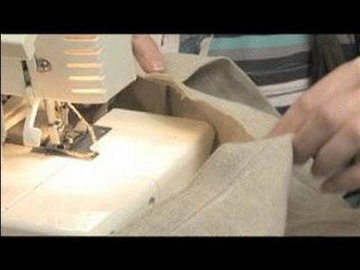 How to Sew a Messenger Bag : Serging A Lip When Sewing A Messenger Bag