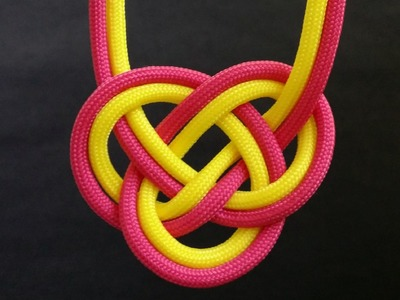 How to tie Double Coin knot (two-color)