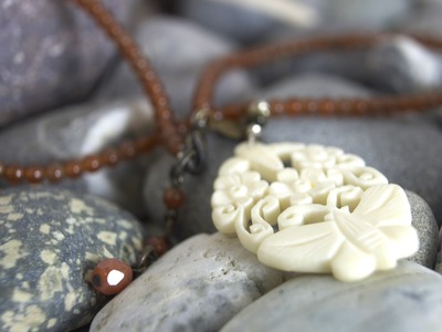 How to use carved bone to make a necklace