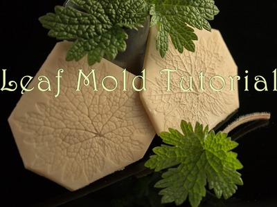 Leaf Mold Tutorial for Precious Metal Clay - Sculpey Mold Maker - PMC3, PMC, PMC+, Art Clay Silver,