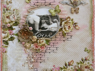 Love Mixed Media Page Tutorial