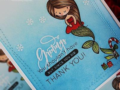 Mermaid Greetings Thank You Card Set