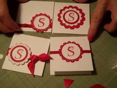 Monogram Mini Card Set - Gift Idea