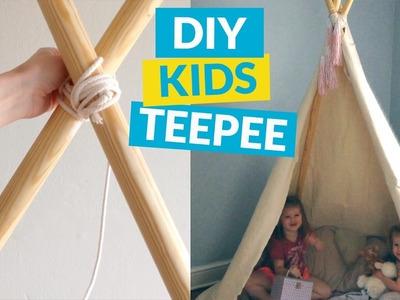 No Sew Kids TeePee