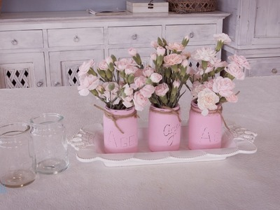 Pink Spray Carnation and Recycled Jars Floristry Tutorial