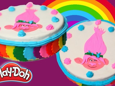 Play Doh Cake - How To Make Play Doh Rainbow Cake - Play Doh Trolls Poppy Cake