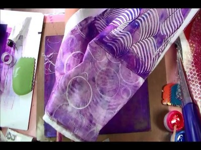 Printing on Fabric with my Gelli Plate