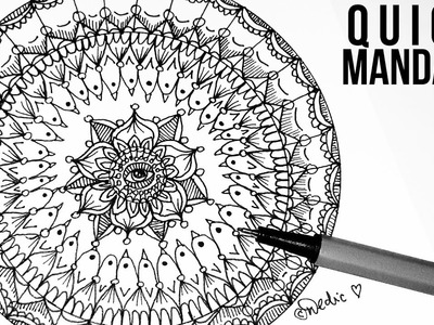 Quick Mandala | Doodle Art, Doodling, Zetangle, Art Therapy, Tutorial