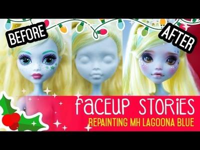 Repainting Dolls - MonsterHigh Lagoona - Faceup Stories ep.46