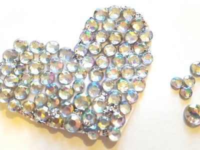 Rhinestone Heart Embellishments - Valentine's Day Crafts