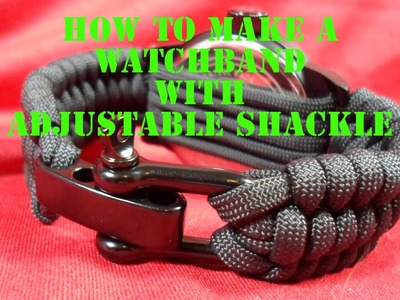 Rock Paracord - How to Make a Watchband with Adjustable Shackle