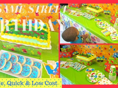 Sesame Street Birthday ~ $41.00 Quick, Super Simple & Low Cost   Dollar Tree Inspired