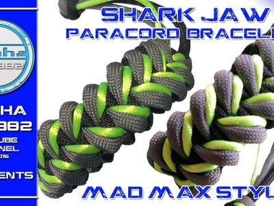 Shark Jaw Paracord bracelet Mad Max Style Edition