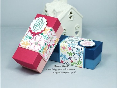 Stampin' Up! Business Card Gift Box with very pretty Belly Band using Love and Affection
