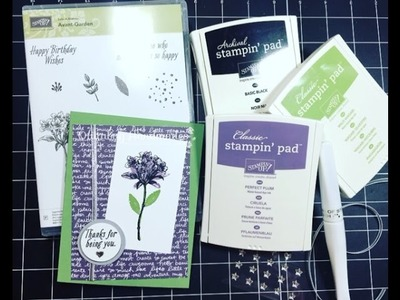 Stampin' Up! Sale-A-Bration- Avant Garden| December 2016 Customer Thank You Cards