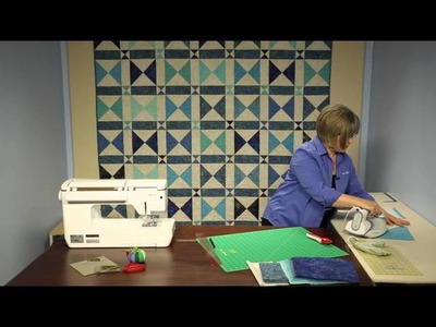 Time Enough Quilt Kit - Keepsake Quilting - Quick And Easy Pieced Hourglass Blocks