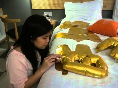 Tutorial to blow a foil balloons Simple way to prepare Birthday party