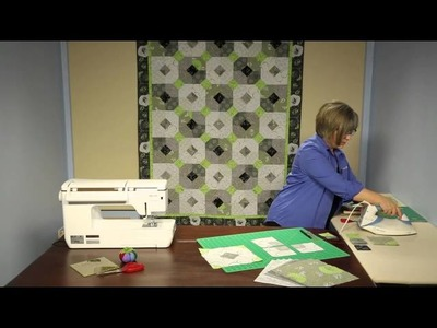 "Twist Of Lime Quilt Kit - Keepsake Quilting - 10"" Squares And Modern Colors Make A Dramatic Quilt"