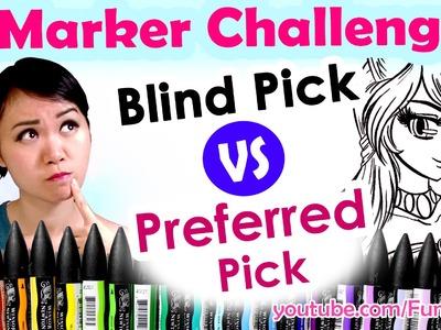 3 MARKER CHALLENGE Art Video - Blind VS Preferred Pick BrushMarkers