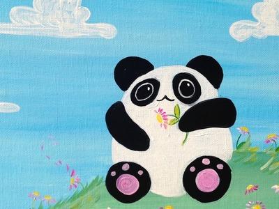 Beginner painting lesson  | Kawaii Panda | Art Sherpa Kids