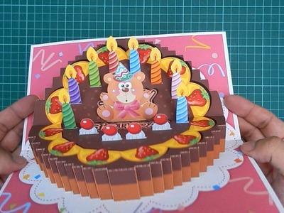 Birthday Cake Pop-Up Card 3 Original Designs