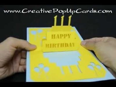 Birthday pop up card: Simple Cake