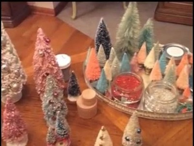 Bottle Brush Trees #2 Decorating with Glitter and Ornaments
