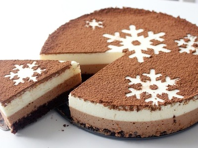 Chocolate Snowflake Mousse Cake | RECIPE
