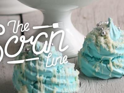 Christmas Tree Meringue Cookies - The Scran Line