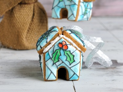 CHRISTMAS TREE STAINED GLASS COOKIE ORNAMENTS, HANIELA'S