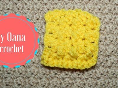 Crochet grit stitch vs raspberry stitch