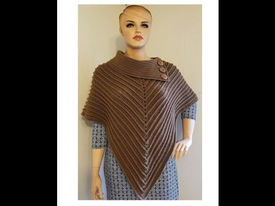 CROCHET How To #Crochet The Classy Cowl Poncho Ladies #TUTORIAL #360