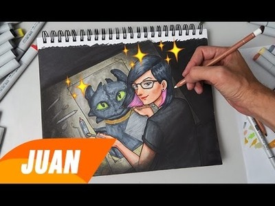 "Dibujando a Diana Diaz ""Manga Style"" 