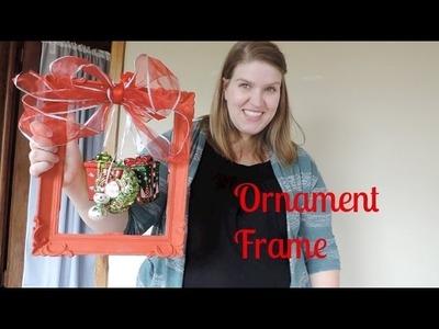 DIY Christmas Ornament Frame
