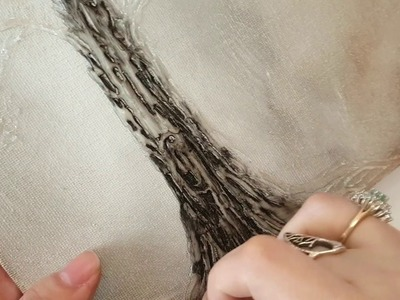 DIY Hot Glue Tree Canvas