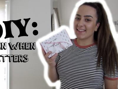 DIY. Open When Letters. (Best Friend, Boyfriend, Girlfriend)