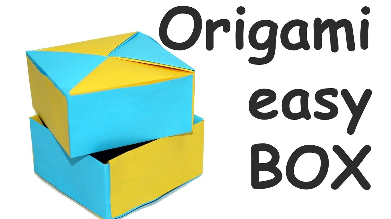 Diy Paper Crafts Easy Origami Box Paper Box Making How To Make A