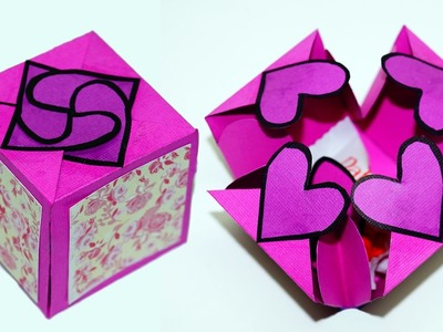 DIY paper crafts idea - Gift box sealed with hearts - a smart way to present your gift. Julia DIY