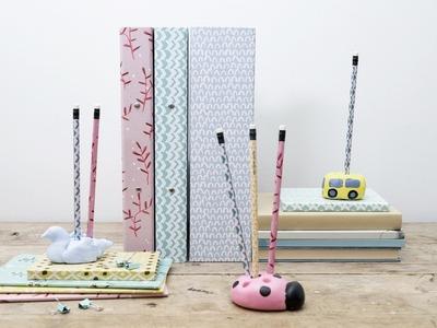 DIY: Pencil organisers from salt dough by Søstrene Grene