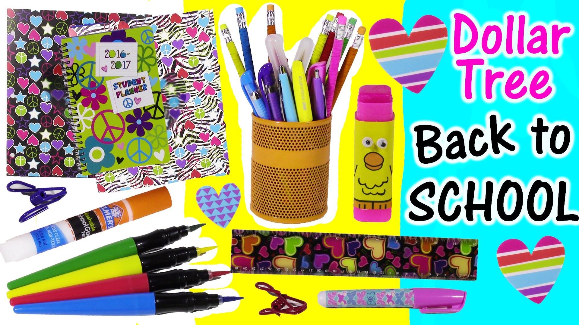 DOLLAR TREE Back to SCHOOL Bonanza Part 1! Folders Smelly Pens Paintbrush Markers Lip Balm! FUN HAUL