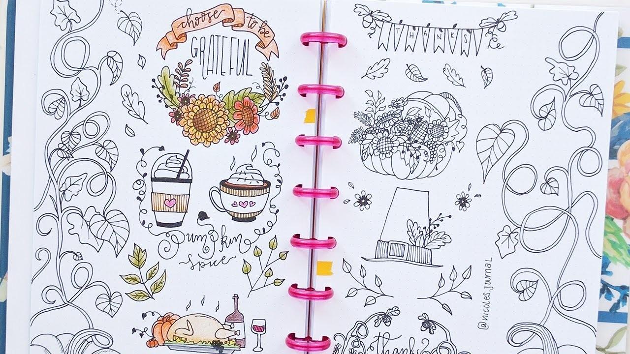 Doodle with me: Autumn Doodles