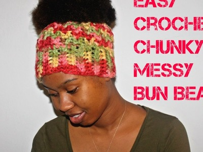 Easy 30 min Chunky Messy Bun Beanie Tutorial