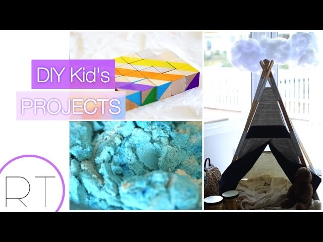 Easy Kids DIY's (Kinetic Sand, Shape Blocks, Storm Clouds)