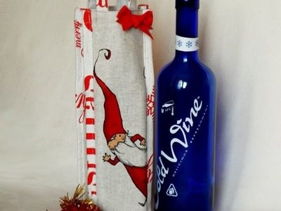 Easy Tutorial portabottiglie natalizio - DIY Christmas wine bottle cover
