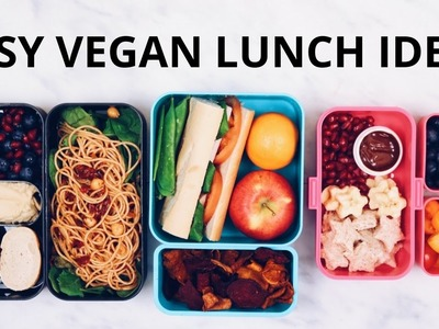 EASY VEGAN LUNCH IDEAS (BENTO BOX)